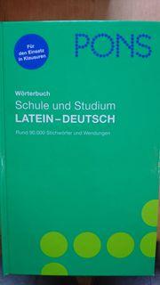 Wörterbuch Schule und Studium Latein-Deutsch