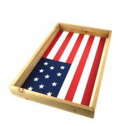NEU Tablett Holz USA 45x30