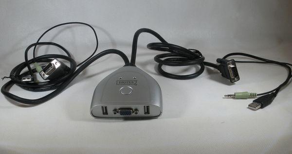 2-Port USB VGA und Audio