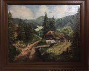 Gemälde -Schwarzwaldmotiv- im Echtholzrahmen