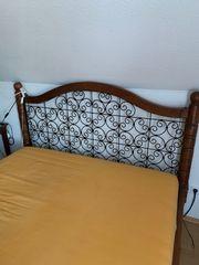 Schönes Doppelbett Massivholz Mangoholz 160