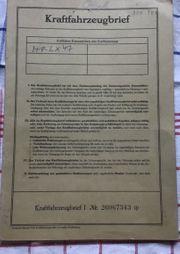 Alter Kfz Brief