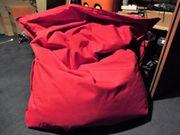 Roter weicher Sitzsack