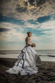 Wunderschönes Brautkleid Gr 44 elfenbeinfarbig