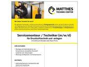 Servicemonteur Techniker m w d
