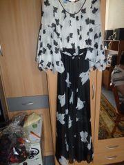 Schwarz weißes Abendkleid