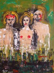 Acrylbild Trio II
