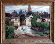 MeisterGemälde HUBERT GONDORF 1881 Eifeldorf