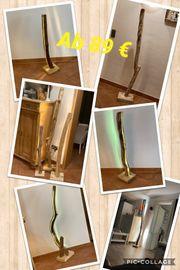 Ast-Stehlampe-Totholz Treibholz LED Licht Unikat