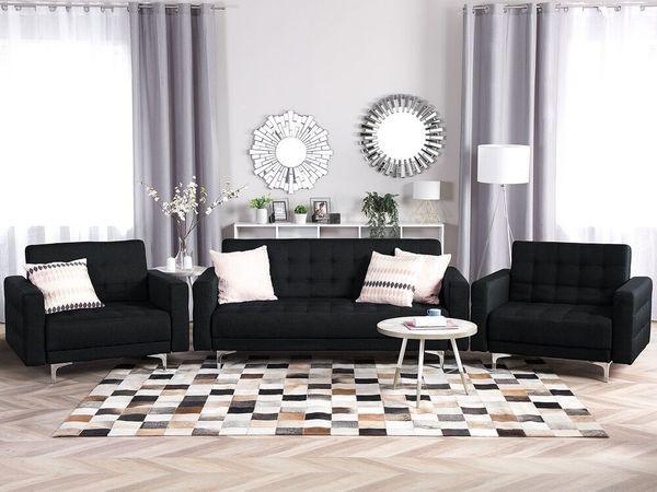 Sofa Set Polsterbezug graphitgrau ABERDEEN