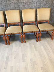 Antike Stühle Kirschbaum gepolstert 6