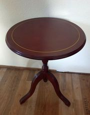 Bistro Tisch Beistell-Tisch Nussbaum Holz