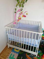 Laufgitter Kinderbett Wiege mit Fernsteuerung Babybett