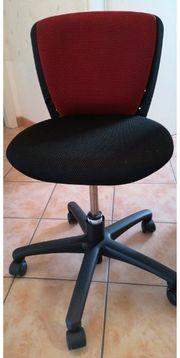 Kinder Schreibtisch Stuhl schwarz-rot