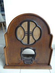 Sehr seltenes Röhrenradio Gehäuse Holz