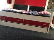 Jugendbett mit Bettkasten Markenware weiß