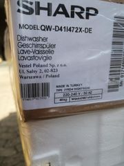 Sharp QW-S41I472X-DE Spülmaschine Geschirrspüler vollintegrierbar