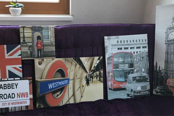 Bilderserie England London Keilramen set