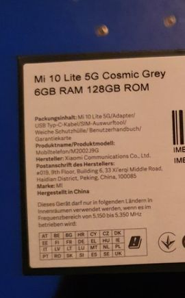 Xiaomi Handy - Xiaomi Mi 10 Lite 5G