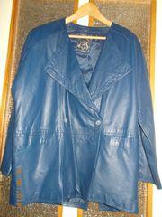 Damen Lederjacke dunkelblau Gr 42