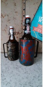 2 UNIKAT Bierflaschen Kühler