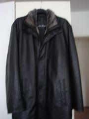 Herren Nappa-Lederjacke schwarz