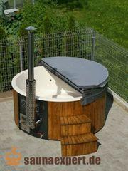 Badefass Whirlpool 225cm GFK-Einsatz Holzofen