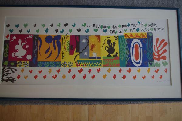 Bilderrahmen mit Kunstdruck Henri Matisse