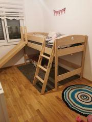 Hochbett Kinderbett mit Rutsche PAIDI