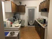 Küche aus massivholz Optik mit