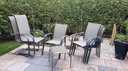 7er Set Gartenstühle 2 Schaukelstühle