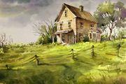 Bauernhaus mit Garten- und Weideland