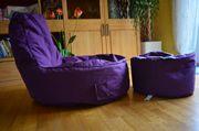Sitzsack mit Hocker Relaxsit für