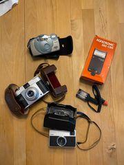 3 Fotokameras Polaroid Kodak AGFA