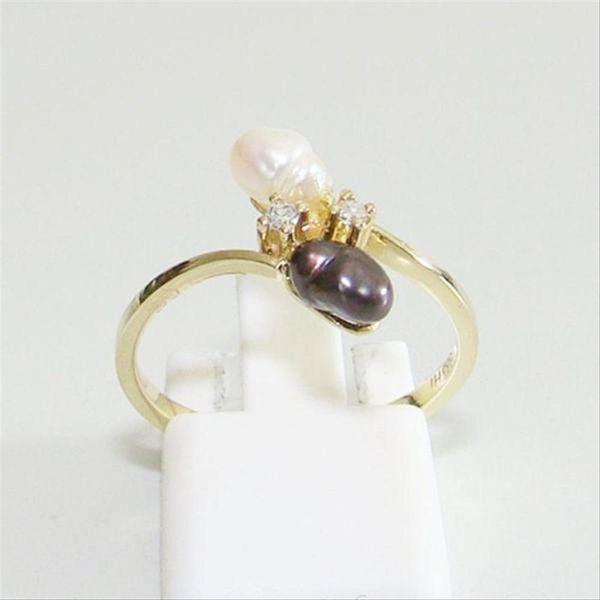 Ring Gold 333er Biwa Perle