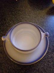 6xGoebel Suppentassen mit Teller