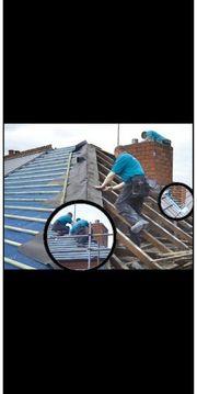 Dach und Dachrinner arbeite