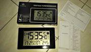 Funkwanduhr Tischuhr Goße Zahlen Temperaturanzeige