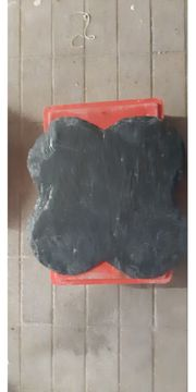 Kleeblatt Schieferplatte 50 x 50