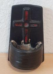 Kleiner schwarzer Weihwasser Kessel Weihwasser