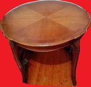 Tisch rund Chippendale D 90cm