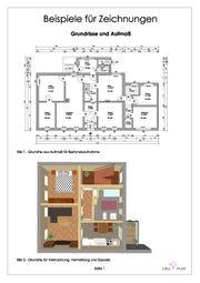 Bauzeichnerin - Grundriss Bauplan digitalisieren zeichnen