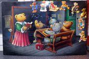 Magnetwand Magnettafel Pinnwand Motiv Teddybärschule
