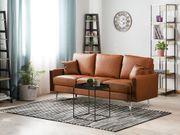 3-Sitzer Sofa Kunstleder goldbraun GAVLE neu