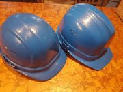2 Blaue Helme Schutzhelm Gr