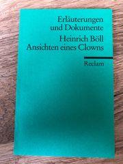 Reclam Erläuterungen Heinrich Böll Ansichten