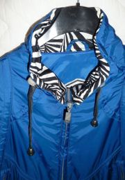 Wunderschöne Jacke königsblau glänzend - NEU -