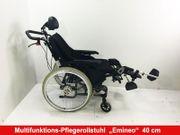 Multifunktions-Pflegerollstuhl Rollstuhl EMINEO 40cm Sitzbreite