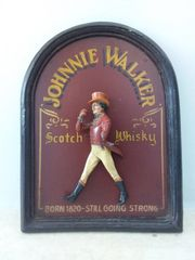altes Johnnie Walker Holzschild