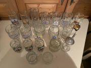 Diverse Glas-Krüge Krug Bierkrug 0